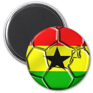 Ghanian Flag ball for Ghanaians worldwide 2 Inch Round Magnet