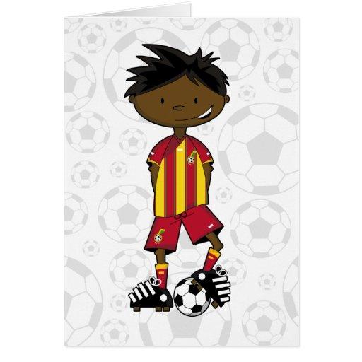Ghanian Soccer Boy Card