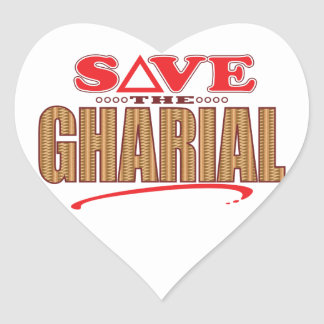 Gharial Save Heart Sticker