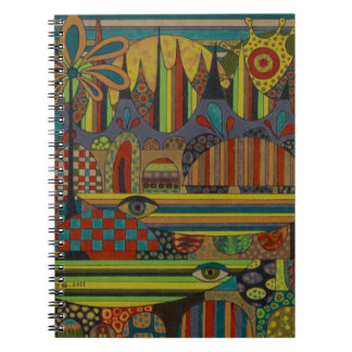 Ghe Ngo Khmer Boats Spiral Note Book
