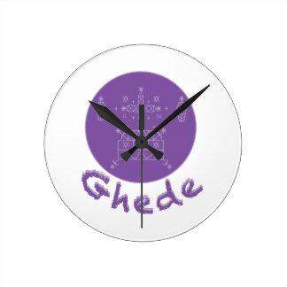 Ghede Samedi Veve Round Clocks