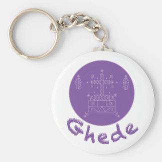Ghede Samedi Veve Basic Round Button Keychain