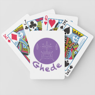 Ghede Samedi Veve Bicycle Playing Cards