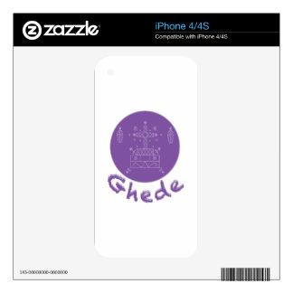 Ghede Samedi Veve Skin For iPhone 4S