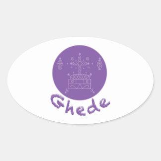 Ghede Samedi Veve Oval Sticker