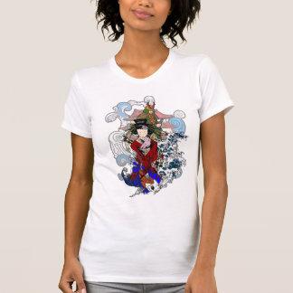 Gheisha y top del samurai camiseta