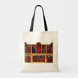 Ghent Altar Altar Of The Mystic Lamb Scene View Of Tote Bag