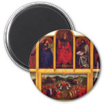 Ghent Altar Altar Of The Mystic Lamb Scene View Of Refrigerator Magnets