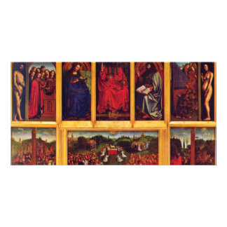 Ghent Altar Altar Of The Mystic Lamb Scene View Of Photo Card Template