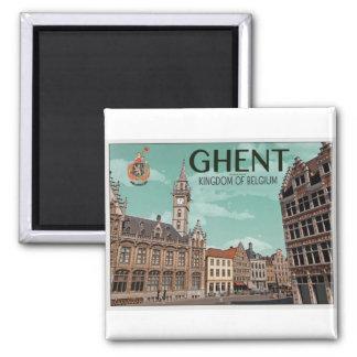Ghent - Korenmarkt 2 Inch Square Magnet