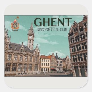 Ghent - Korenmarkt Square Sticker