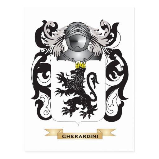 Gherardini Coat of Arms (Family Crest) Postcard
