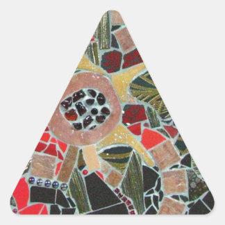 """Ghetsimani"", ilustraciones del mosaico por C. - Pegatina Triangular"
