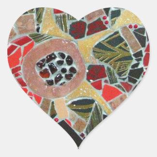 """Ghetsimani"", mosaic artwork by C.-M. Buzamet Heart Sticker"