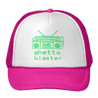 ghetto blaster 8bit trucker hat
