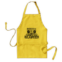 hip-hop, ghetto blaster, boombox, music, old school, pink, giel, glamour, vintage, fun, classic, brown, Apron with custom graphic design