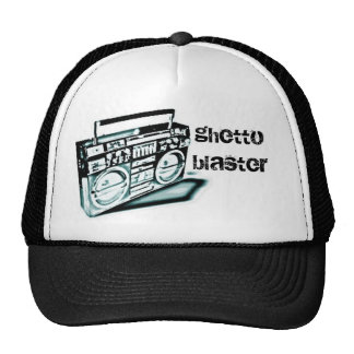 ghetto blaster blue mesh hats