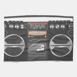 Ghetto blaster boombox towel