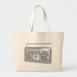 Ghetto Blaster Large Tote Bag