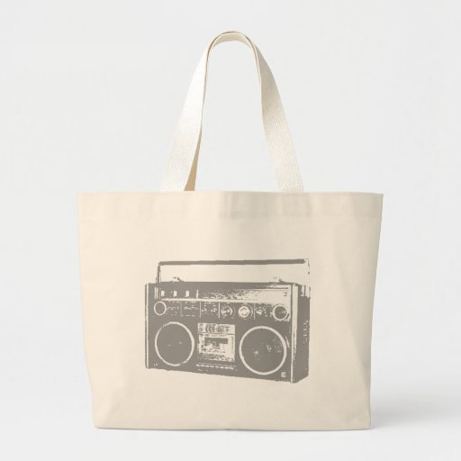 Ghetto Blaster Large Tote Bag