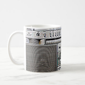 GHETTO BLASTER CLASSIC WHITE COFFEE MUG