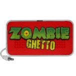 Ghetto del zombi - el logotipo del ghetto del zomb iPod altavoz