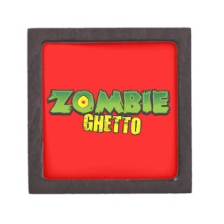 Ghetto del zombi - el logotipo del ghetto del zomb caja de regalo de calidad