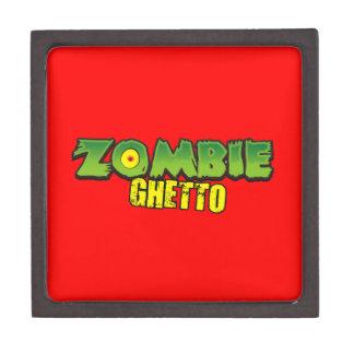 Ghetto del zombi - el logotipo del ghetto del zomb caja de joyas de calidad