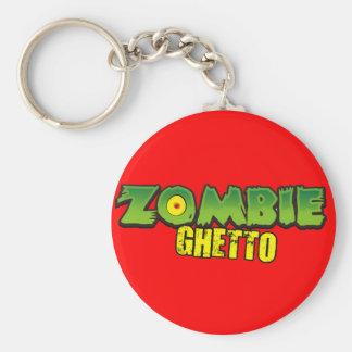 Ghetto del zombi - el logotipo del ghetto del zomb llaveros personalizados