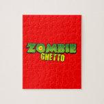 Ghetto del zombi - el logotipo del ghetto del zomb rompecabezas con fotos