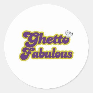ghetto fabuloso pegatina redonda