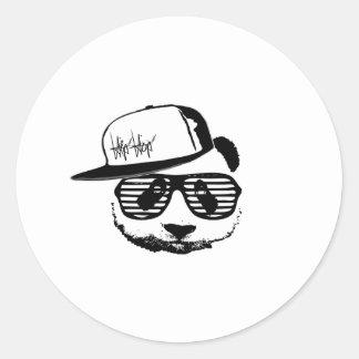 Ghetto panda classic round sticker