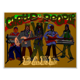 GHETTO PEOPLE BAND Poster