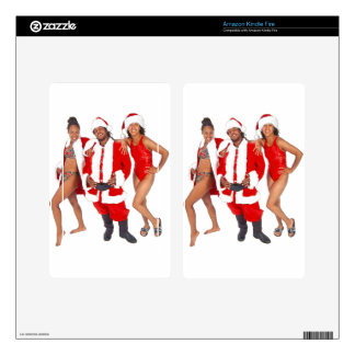 Ghetto Santa and his Elves from the Hood Decal For Kindle Fire