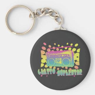 Ghetto Superstar Basic Round Button Keychain
