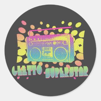 Ghetto Superstar Classic Round Sticker