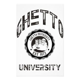 Ghetto University Stationery