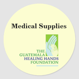 GHHF Logo, Medical Supplies Classic Round Sticker