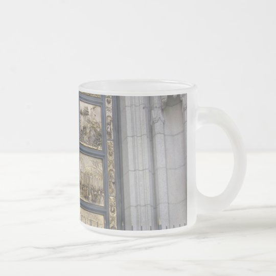 Ghiberti Doors Frosted Glass Coffee Mug