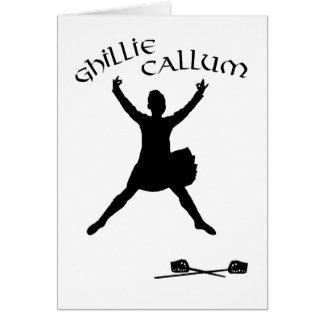 Ghillie Callum - Scottish Sword Dancer Card