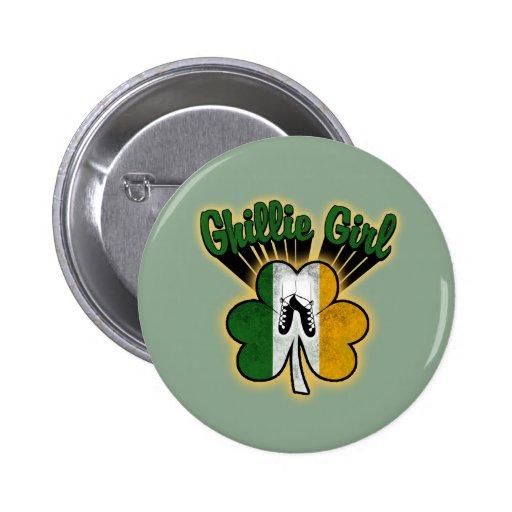 Ghillie Girl Pinback Button