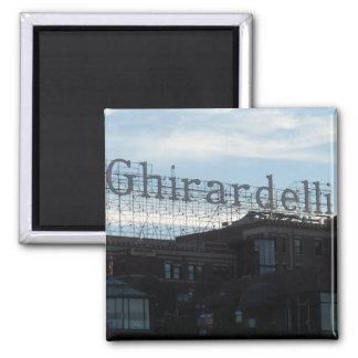 Ghirardelli Square- San Francisco 2 Inch Square Magnet