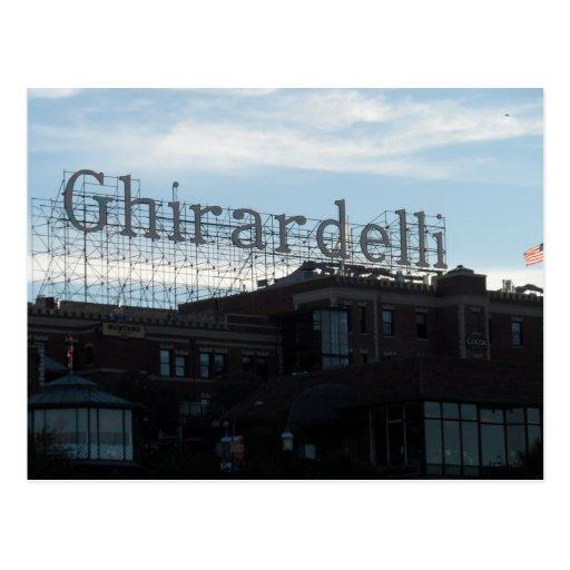 Ghirardelli Square- San Francisco Postcard