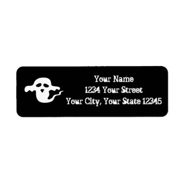 Halloween Themed Ghost Address Label