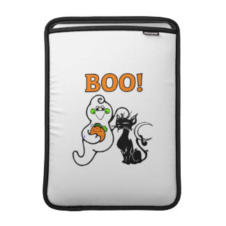 Ghost and Black Cat MacBook Air Sleeve