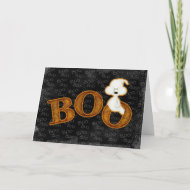 Ghost and Boo Halloween Card card