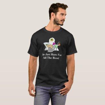 Halloween Themed Ghost and Booze  Halloween T-shirt