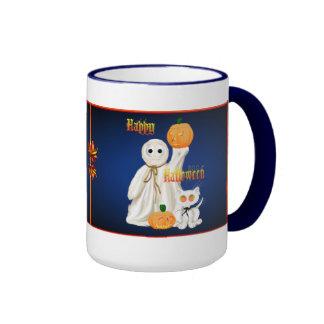 Ghost and Ghosty Kitty Mugs