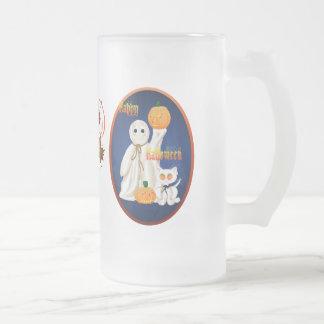 Ghost and Ghosty Kitty Oval Mug