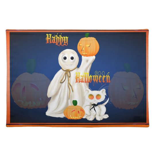 Ghost and Ghosty Kitty Place set Placemat